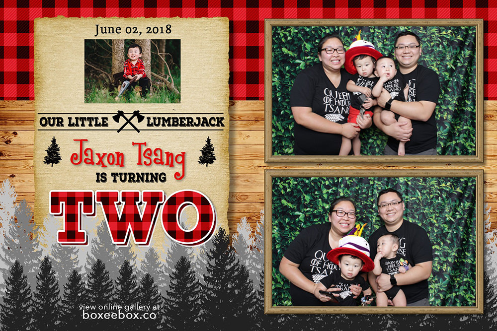 lumberjack birthday theme photo booth