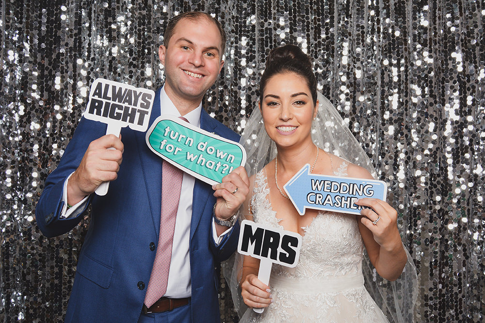 emm & peter wedding at St. Regis houston photo booth rental